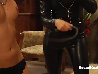 Lesbo Slaves In Bondage Whipped And Groped At the end of one's tether Steely Madame