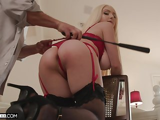 Ass whipped and tied up by way of sex for a utter maledom