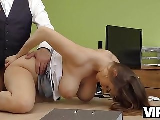 VIP4K. Agent drills juicy young pussy destined for girl needs money