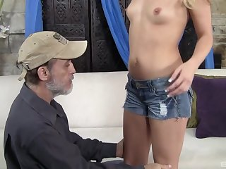 After wild making love Megan Appealing is on her knees till such time as a facial
