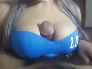 4K Arabian HALLOWEEN tit fuck - cumshot slow mo