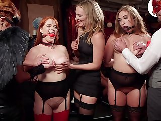 Group sex relating to amazing orgy with a bunch of amateur sluts