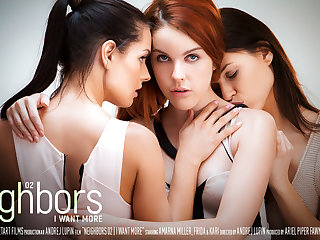 Neighbors Occurrence 2 - I Want More - Amarna Miller & Frida & Kari A - SexArt
