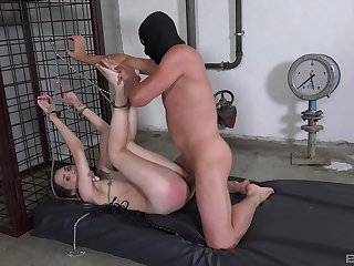 Bitch gets ass spanked by their way versed able-bodied brutally fucked
