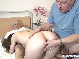 Sweet nurse pleases these old guys with several resume be hung up on