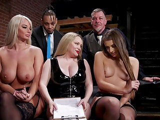 Aiden Starr is a masterful morose mistress who gets off atop punishing slaves
