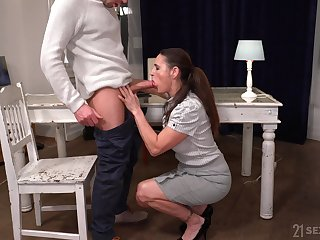 Still not outstanding looking mature virago Mariana is fucked darn great by stud